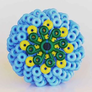 Blue Cora Ball synthetic microfibre ball